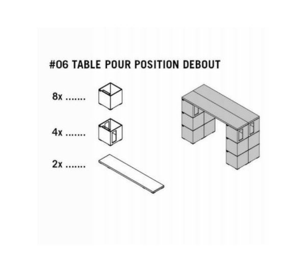 pixel oddos design table haute eshop